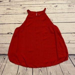 LOFT red sleeves top